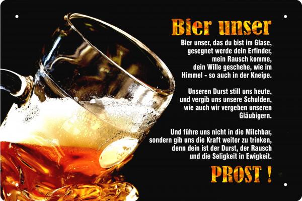 Blechschild Bier unser