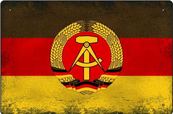Blechschild DDR-Fahne