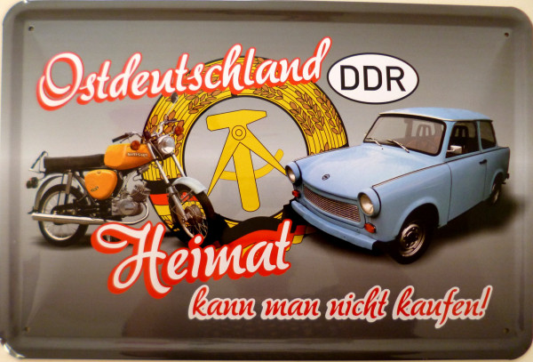 Blechschild Ostdeutschland Heimat nicht kaufen