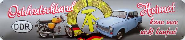 Straßenschild Ostdeutschland Heimat nicht kaufen Trabi blau S50