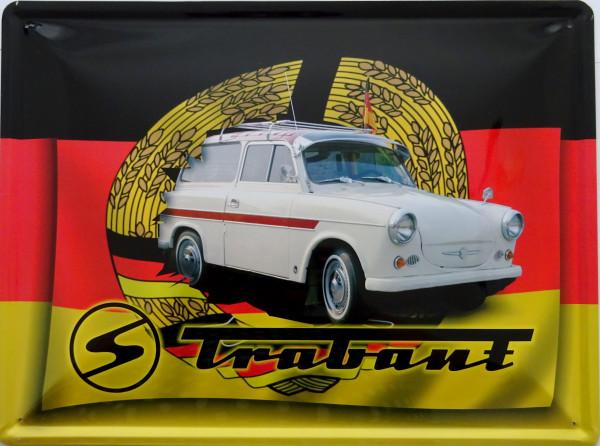 Blechschild 30x40cm Trabant Kombi