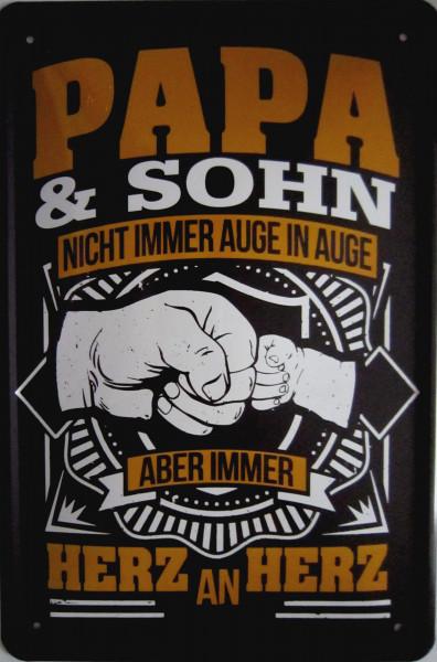 Blechschild 20x30cm - Papa & Sohn