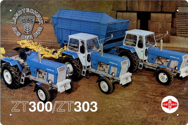 Blechschild Landtechnik der DDR - ZT300 + ZT303