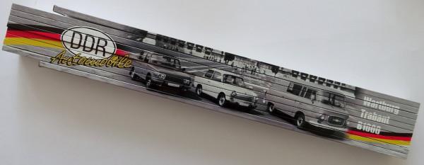 Zollstock 2m DDR Automobile Wartburg Trabant B1000