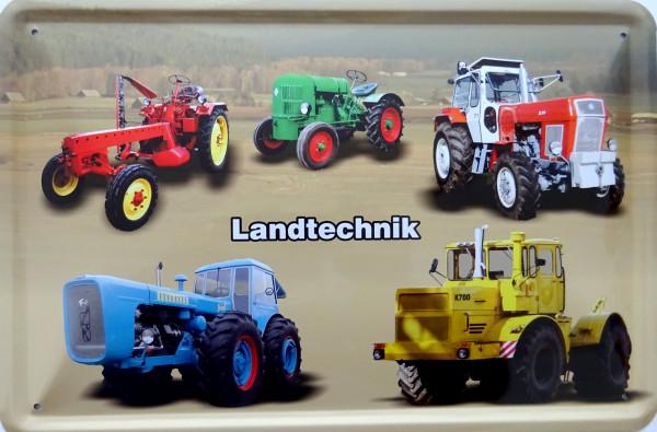 Blechschild 5er Landtechnik RS09 Brockenhexe ZT Dutra K700