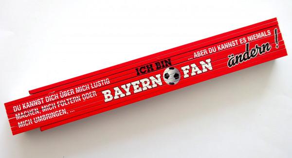 Zollstock 2m Ich bin Bayern Fan