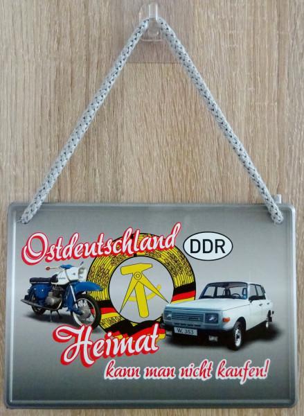 Hängeschild - Ostdeutschland - Heimat kann man nicht kaufen