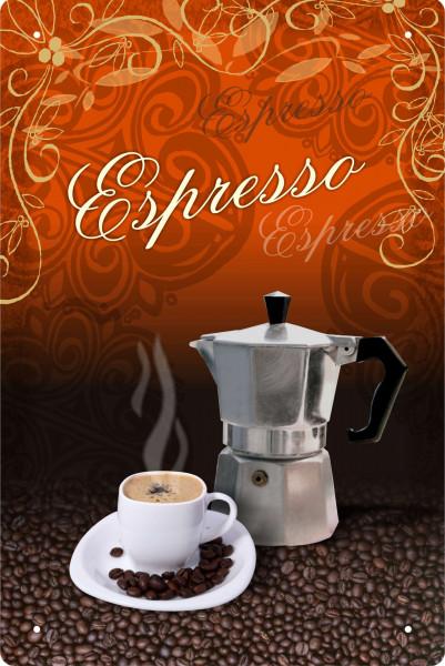 Blechschild Espresso