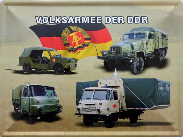 Blechschild 30x40cm Volksarmee der DDR