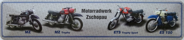 Straßenschild Motorradwerk Zschopau (4er MZ)