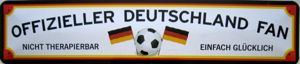 Straßenschild Offizieller Deutschland Fan (Rahmen)