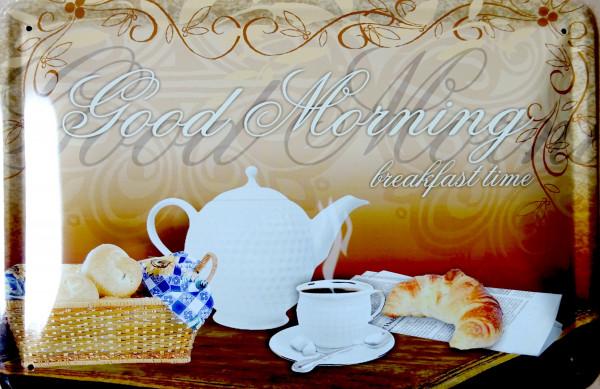 Blechschild Good morning Küche