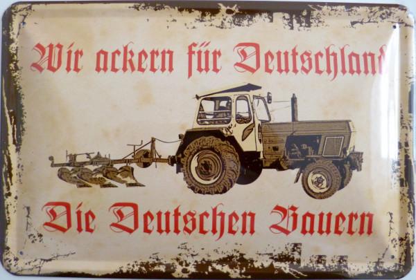 Blechschild Ackern für Deutschland