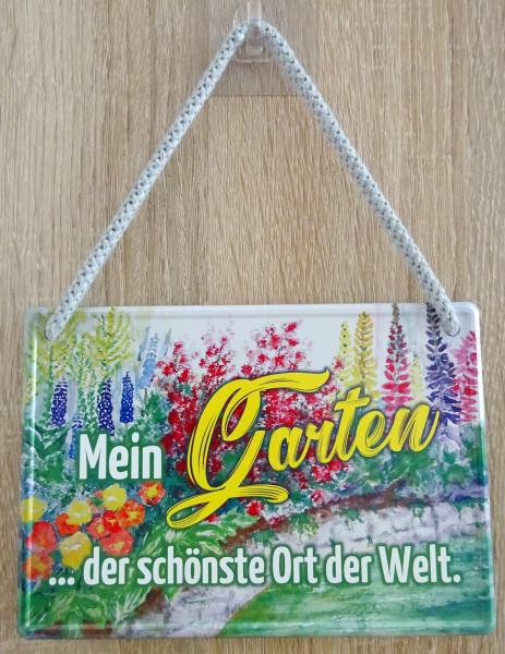 Hängeschild - Mein Garten - der schönste Ort der Welt