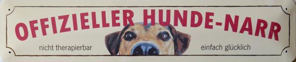 Straßenschild Offizieller Hunde-Narr