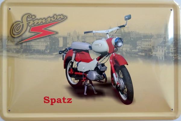 Blechschild Simson Spatz