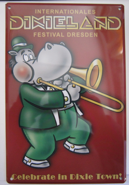 Blechschild 20x30cm - Dixieland - Celebrate in Dixie Town