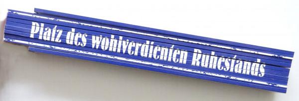 Zollstock 2m Platz des wohlverdieten Rhestands