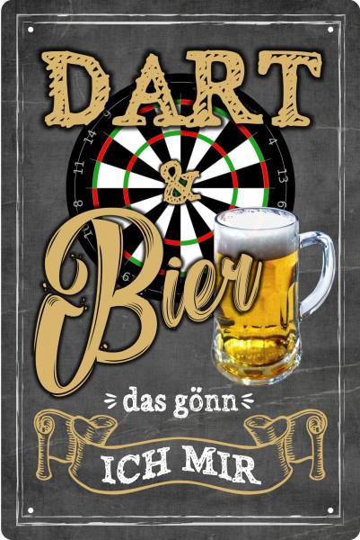 Blechschild Dart und Bier - das gönn ich mir