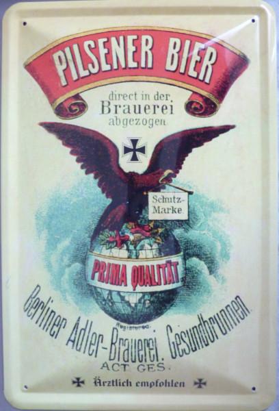 Blechschild Pilsener Bier Berlin Adler