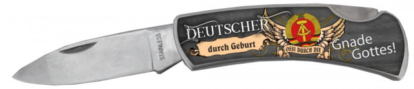 Taschenmesser - Deutscher durch Geburt - Ossi durch Gnade Gottes