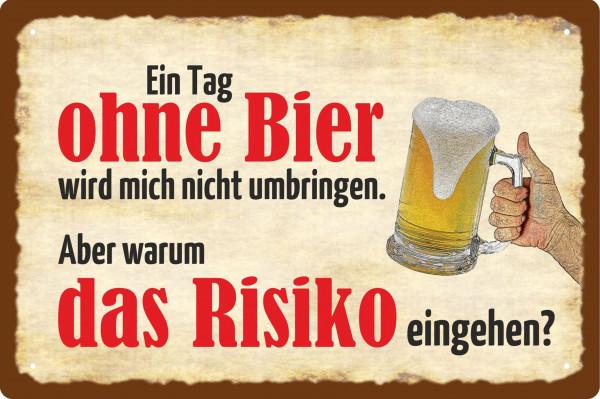 Blechschild ein Tag ohne Bier