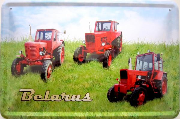 Blechschild Belarus 3er