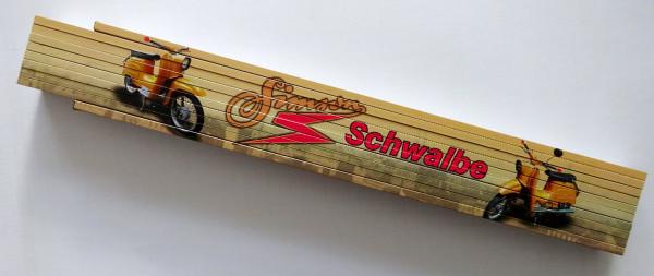 Zollstock 2m Simson Schwalbe gelb