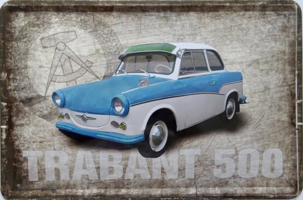 Blechschild Trabant 500 (neu)