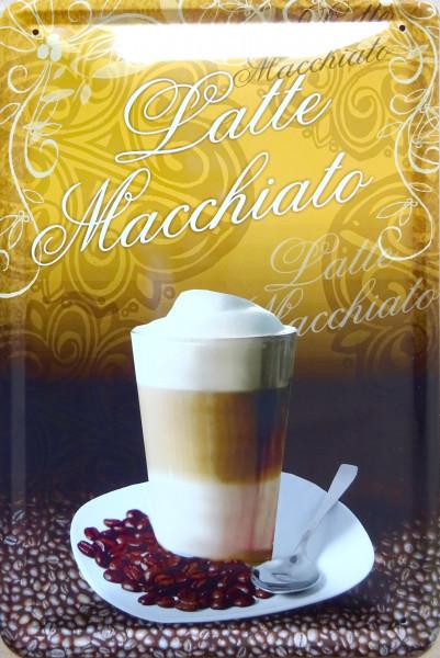 Blechschild Latte Macchiato
