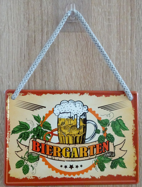 Hängeschild - Biergarten