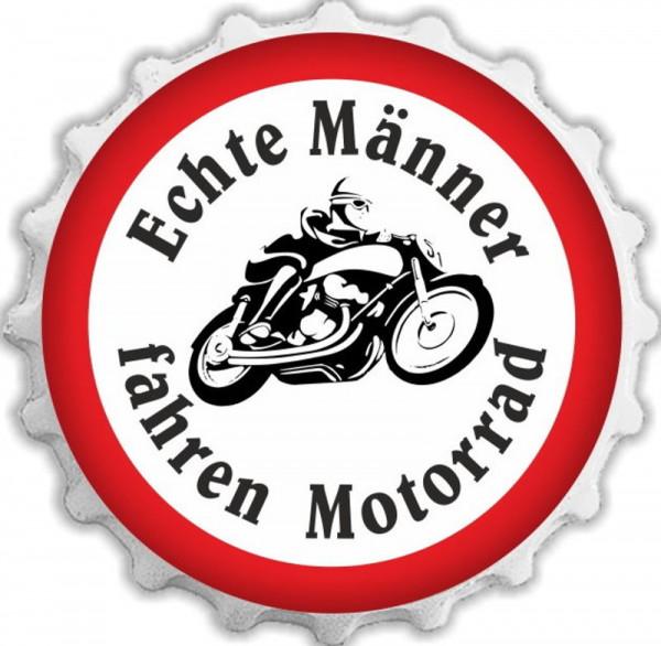 Kapselheber Echte Männer fahren Motorrad