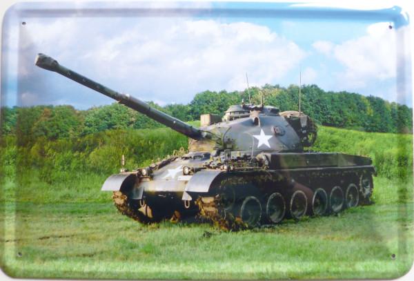 Blechschild Panzer (Stern)