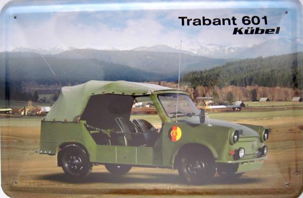 Blechschild Trabant 601 Kübel (neu)