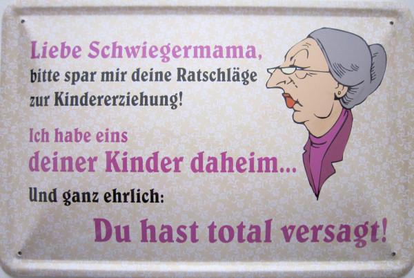 Blechschild Liebe Schwiegermutter