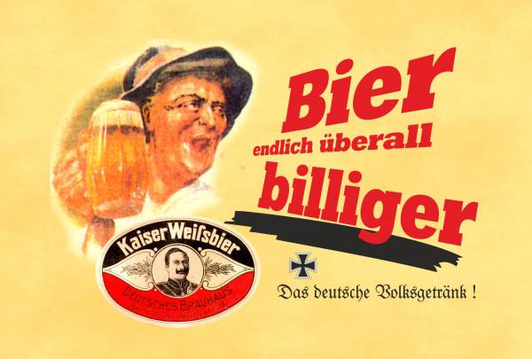 Blechschid Bier endlich überall billiger