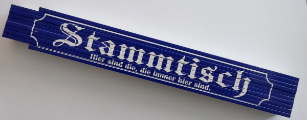 Zollstock 2m - Stammtisch (blau)