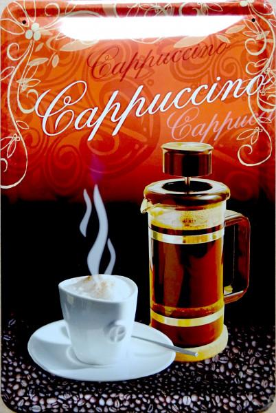 Blechschild Cappuccino Küche