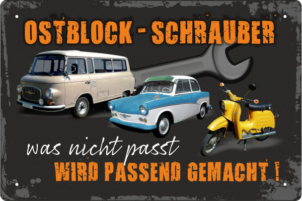 Blechschild Ostblock-Schrauber