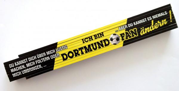Zollstock 2m Ich bin Dortmund Fan