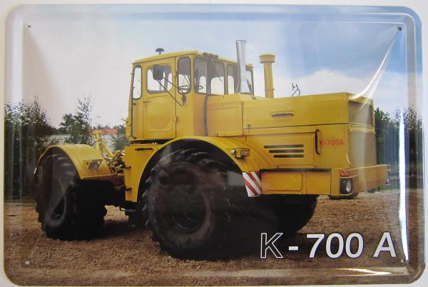 Blechschild K700-A gelb