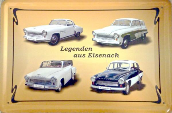 Blechschild Legenden aus Eisenach