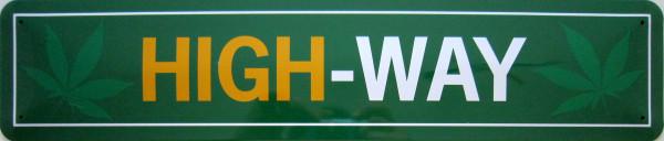 Straßenschild High-Way