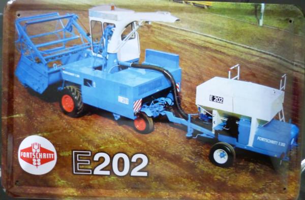 Blechschild E202 Fortschritt