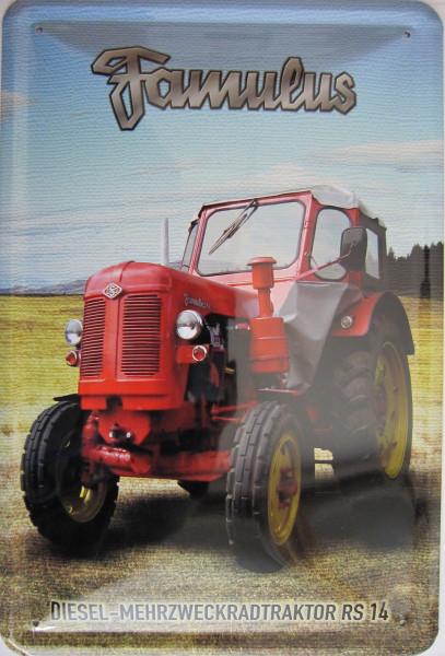 Blechschild Famulus Diesel Mehrzweckradtraktor RS14