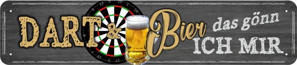 Straßenschild Dart und Bier - das gönn ich mir