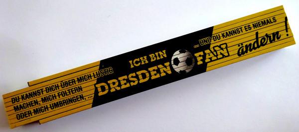 Zollstock 2m Ich bin Dresden Fan