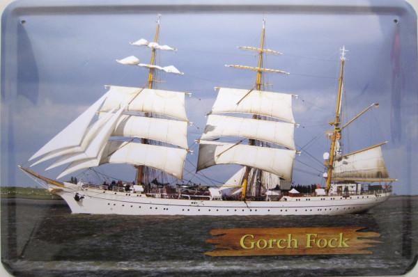 Blechschild Gorch Fock Schiff
