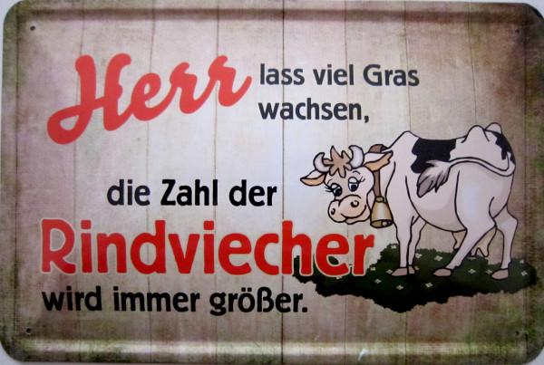 Blechschild Rindviehcher (alte Version)