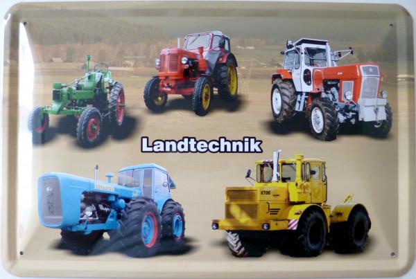 Blechschild Landtechnik RS08 Pionier ZT Dutra K700